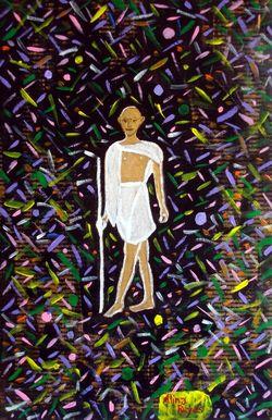 """Gandhi dans les fluctuations quantiques du vide"", l'un de mes anciens dessins"