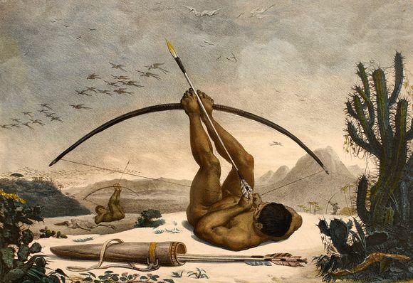 """""""Caboclo"""", par Jean-Baptiste Debret, 1834 (image wikipedia)"""