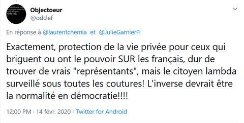 Screenshot_2020-02-14 Objectoeur sur Twitter laurentchemla JulieGarnierFI Exactement, protection de la vie privée pour ceux[...]
