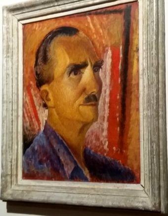 J'ai photographié ce portrait de Kazantzaki par Valia Semertzdis la semaine dernière au Musée historique de Crète d'Héraklion