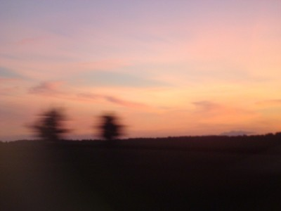 une aube vue du train, photo Alina Reyes