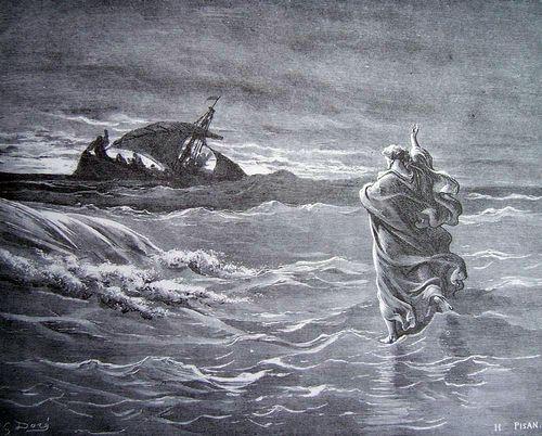 Jésus marchant sur les eaux, par Gustave Doré