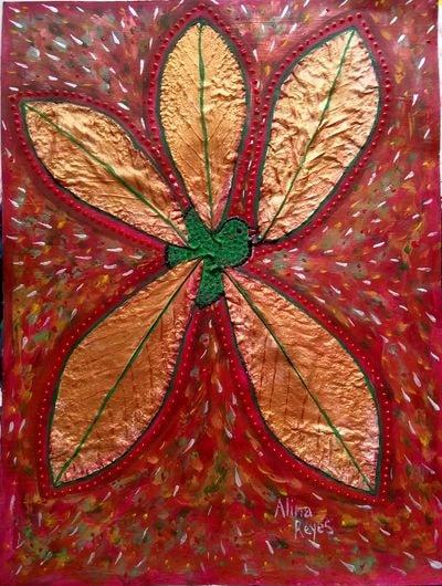 """""""Simorgh"""", technique mixte sur papier, 41x31 cm"""