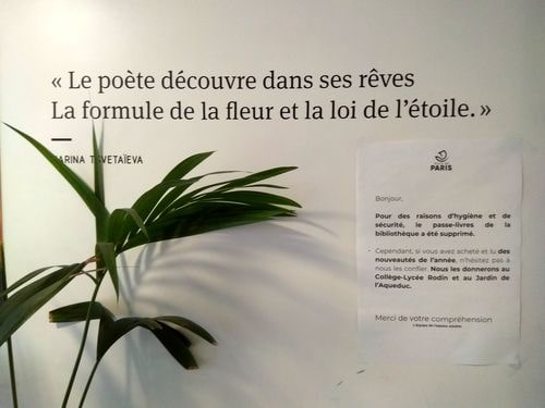 Aujourd'hui à la bibliothèque Marina Tsvetaïeva à Paris