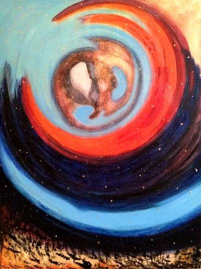 """""""Moving"""", acrylique sur toile 61x46 cm"""