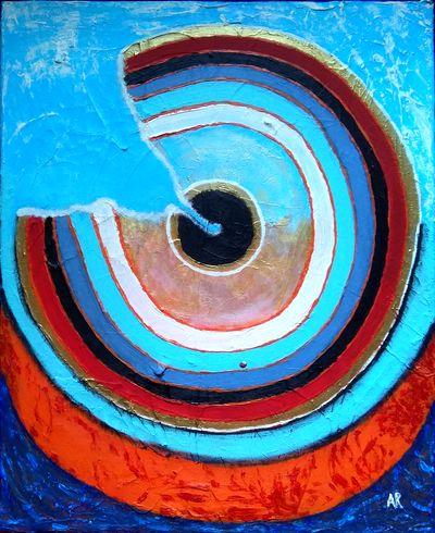 """""""Penetration"""", acrylique sur toile 45x37 cm"""