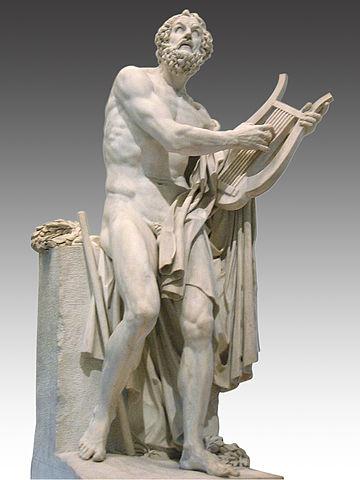 Homère par Philipppe-Laurent Roland, musée du Louvre (wikimedia)