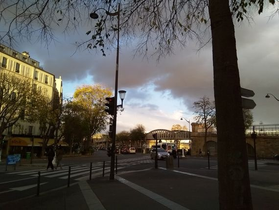à Paris hier, photo Alina Reyes