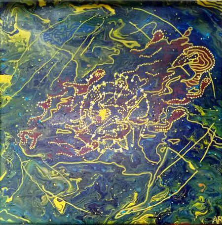 """""""Sirens"""", acrylique sur toile 30x30 cm"""