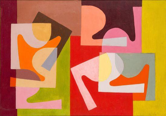 Saloua Raouda Choucair, Fractional Module, 1947-1951, 49,5 x 59 cm, Courtesy Saloua Raouda Choucair Foundation